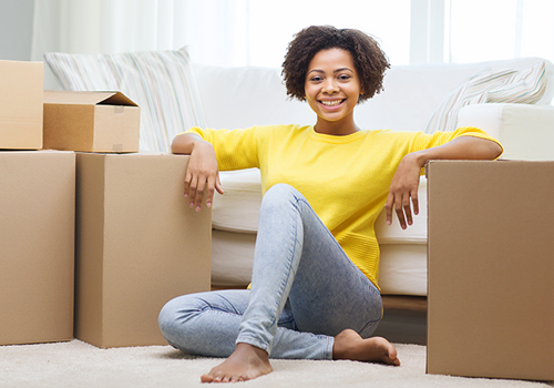 Young Woman Moved-In